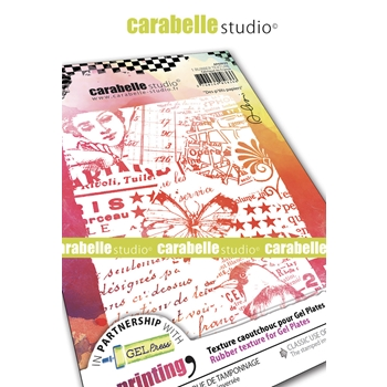 Carabelle Studio LITTLE PAPERS A6 Art Printing Texture Plate ap60039