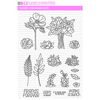 Clearly Besotted CLEARLY CONTAINED CUTS Clear Stamps