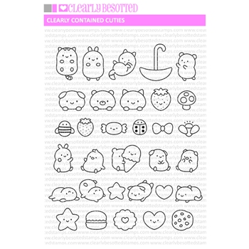 Clearly Besotted CLEARLY CONTAINED CUTIES Clear Stamps