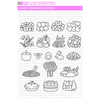 Clearly Besotted CLEARLY CONTAINED CONTENTS Clear Stamps