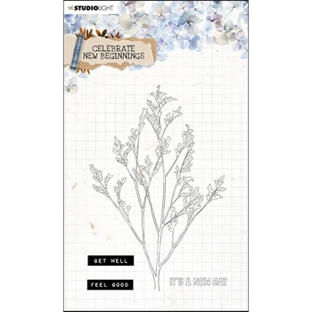 Studio Light CELEBRATE NEW BEGINNINGS 514 Essentials Clear Stamps stampcnb514*