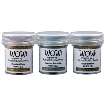 WOW Embossing Powder Trios ANCIENT JEWELS Set WOWKT040