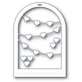 Memory Box HEART STREAMER GLOBE Craft Dies 94558