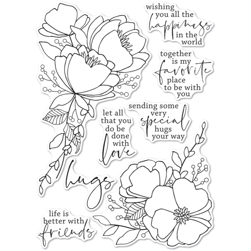 Memory Box Clear Stamps ALL THE HAPPINESS Open Studio cl5265 Preview Image