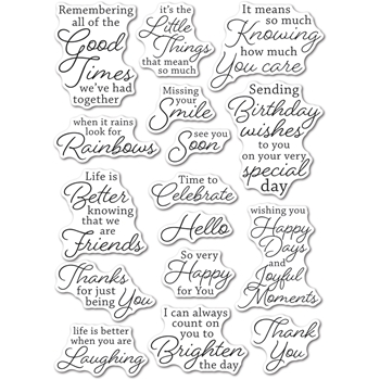 Memory Box Clear Stamps JOYFUL MOMENTS Open Studio cl5266