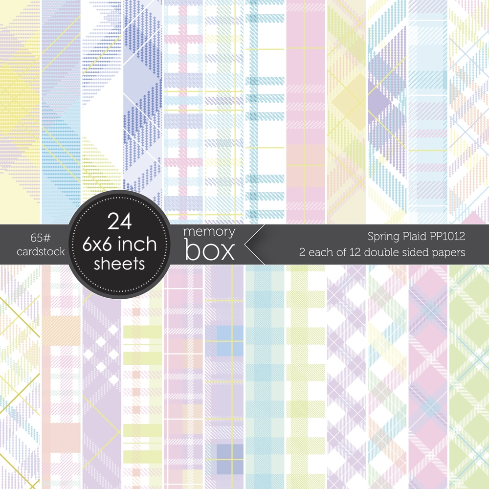 Memory Box SPRING PLAID 6x6 Paper Pack pp1012 zoom image