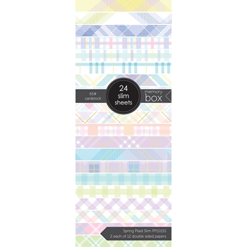 Memory Box SPRING PLAID SLIM 3.5x8.5 Paper Pack pp1015s