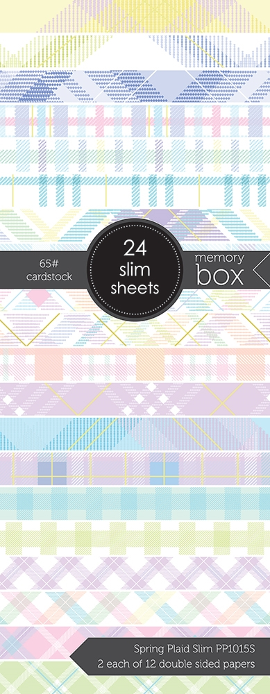 Memory Box SPRING PLAID SLIM 3.5x8.5 Paper Pack pp1015s zoom image