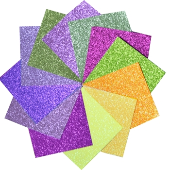 Memory Box GRACEFUL GARDEN 6x6 Glitter Paper Pad gp1002