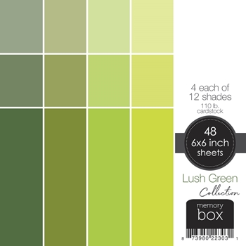 Memory Box LUSH GREEN 6x6 Paper Pack sp1003
