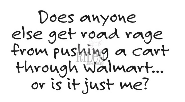 Riley And Company Funny Bones ROAD RAGE AT WALMART Cling Rubber Stamp RWD 884 zoom image