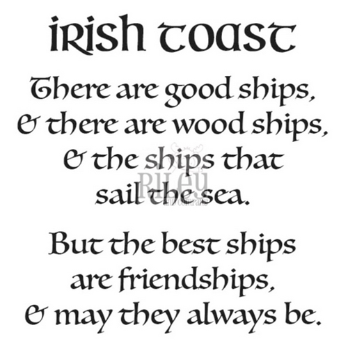 Riley And Company Funny Bones IRISH TOAST Cling Rubber Stamp RWD 867 Preview Image