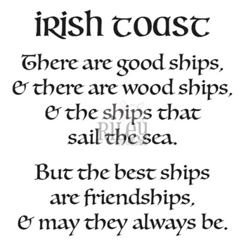Riley And Company Funny Bones IRISH TOAST Cling Rubber Stamp RWD 867