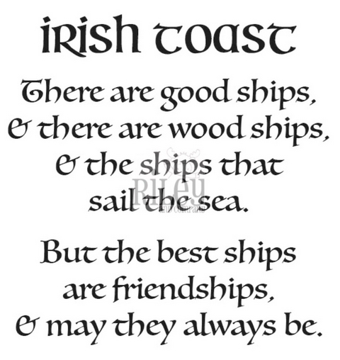 Riley And Company Funny Bones IRISH TOAST Cling Rubber Stamp RWD 867 zoom image