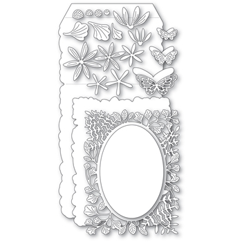 Poppy Stamps FERN AND DAISY POP UP EASEL Set Craft Dies 2377