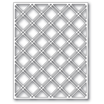 Poppy Stamps DOUBLE DIAMOND LATTICE PLATE Craft Die 2436