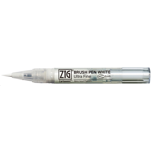 Zig Cartoonist WHITE ULTRA FINE Brush Pen cnbw02s Preview Image