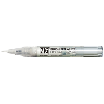 Zig Cartoonist WHITE ULTRA FINE Brush Pen cnbw02s