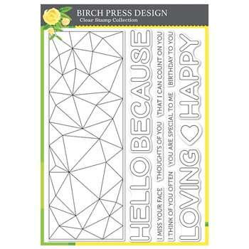 Birch Press Design CRYSTAL LINGO Clear Stamp Set cl8155