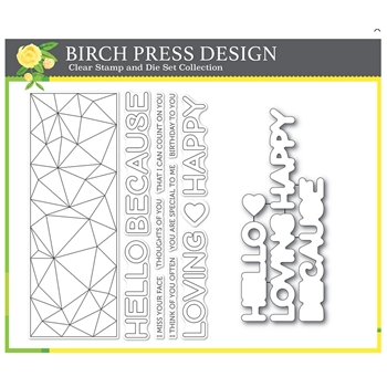 Birch Press Design CRYSTAL LINGO Clear Stamps and Die Set 8155