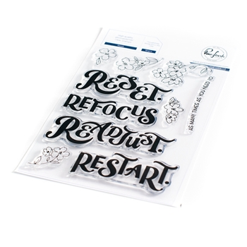 PinkFresh Studio RESET Clear Stamp Set 104521