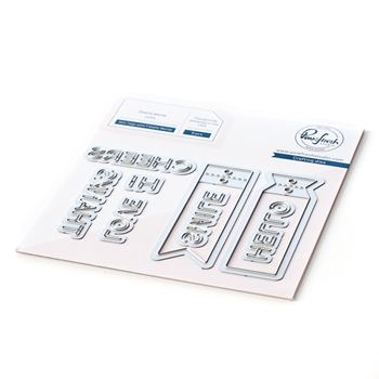 PinkFresh Studio MINI TAGS WITH FILLABLE WORDS Die Set 107021