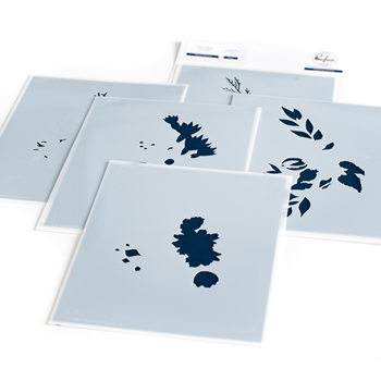 PinkFresh Studio INFINITE BLOOMS Layering Stencil Set 106021