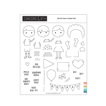 Concord & 9th PETITE PALS Clear Stamp Set 11059