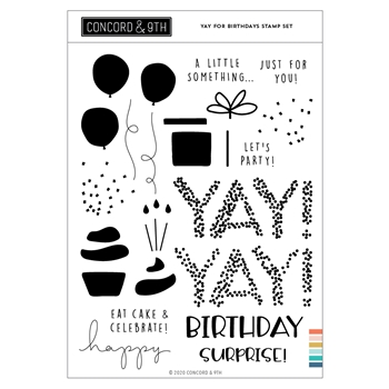 Concord & 9th YAY FOR BIRTHDAYS Clear Stamp Set 11047
