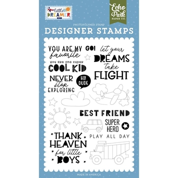 Echo Park NEVER STOP EXPLORING Clear Stamps ldb238043*