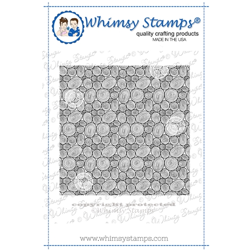 Whimsy Stamps TREE RING Background Cling DDB0053 Preview Image