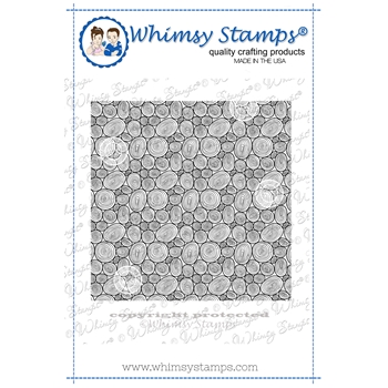 Whimsy Stamps TREE RING Background Cling DDB0053