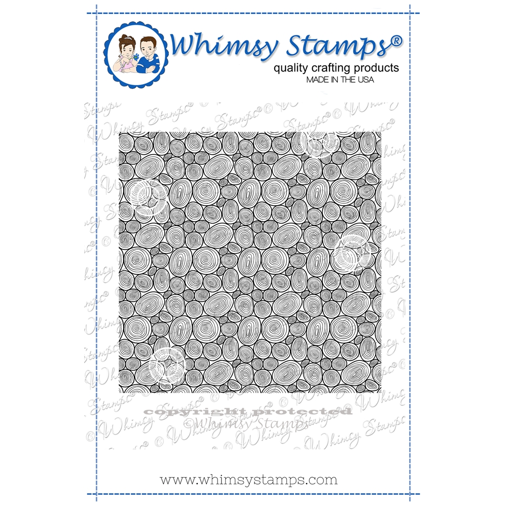 Whimsy Stamps TREE RING Background Cling DDB0053 zoom image