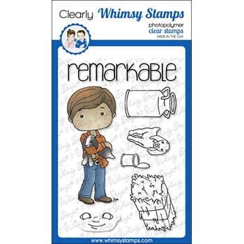 Whimsy Stamps POLKA DOT PALS NOUR Clear Stamps BS1023