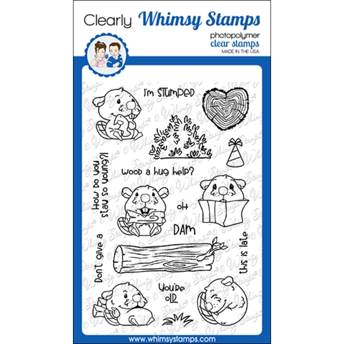 Whimsy Stamps OH DAM Clear Stamps CWSD362 Preview Image