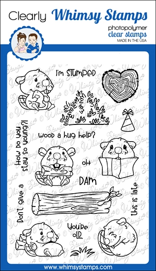 Whimsy Stamps OH DAM Clear Stamps CWSD362 zoom image
