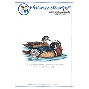 Whimsy Stamps WOODLAND DUCKS Cling Stamp DA1157