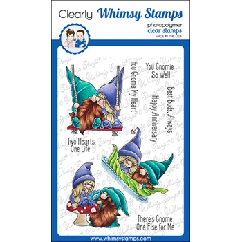 Whimsy Stamps GNOME ONE ELSE Clear Stamps C1373