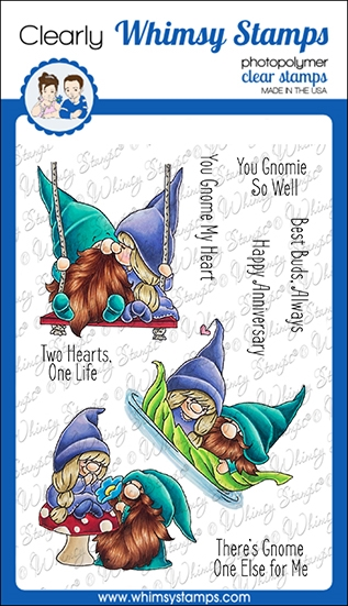 Whimsy Stamps GNOME ONE ELSE Clear Stamps C1373 zoom image
