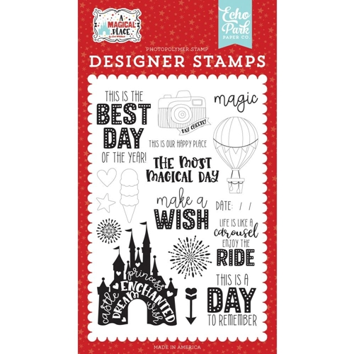 Echo Park OUR HAPPY PLACE Clear Stamps amp239042 Preview Image