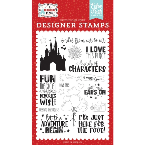 Echo Park SMILES FROM EAR TO EAR Clear Stamps amp239043 Preview Image