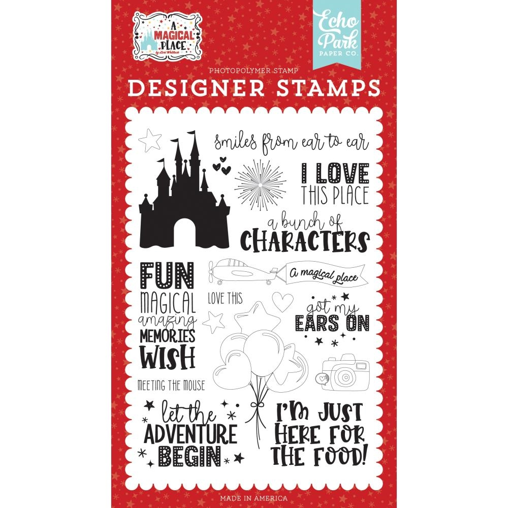 Echo Park SMILES FROM EAR TO EAR Clear Stamps amp239043 zoom image