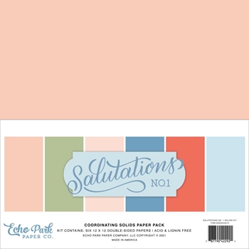 Echo Park SALUTATIONS NO. 1 12 x 12 Solids Paper Pack san244015