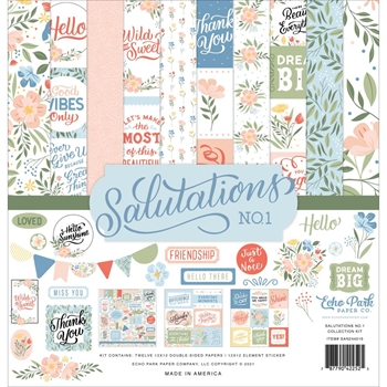 Echo Park SALUTATIONS NO. 1 12 x 12 Collection Kit san244016