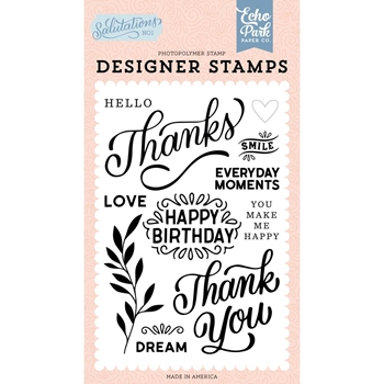 Echo Park THANKS Clear Stamps san244043