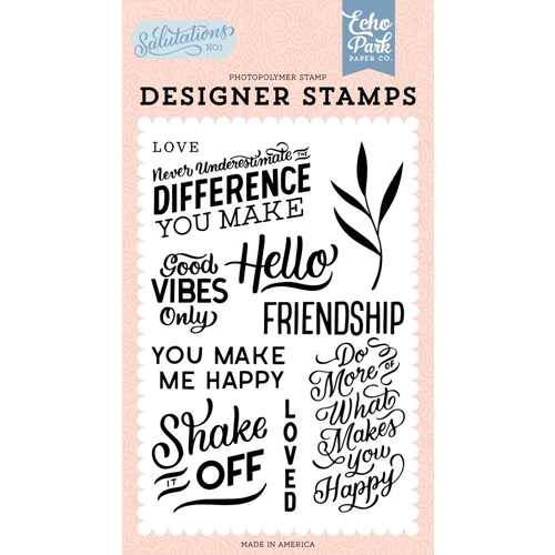 Echo Park YOU MAKE ME HAPPY Clear Stamps san244044 Preview Image