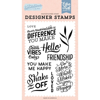 Echo Park YOU MAKE ME HAPPY Clear Stamps san244044