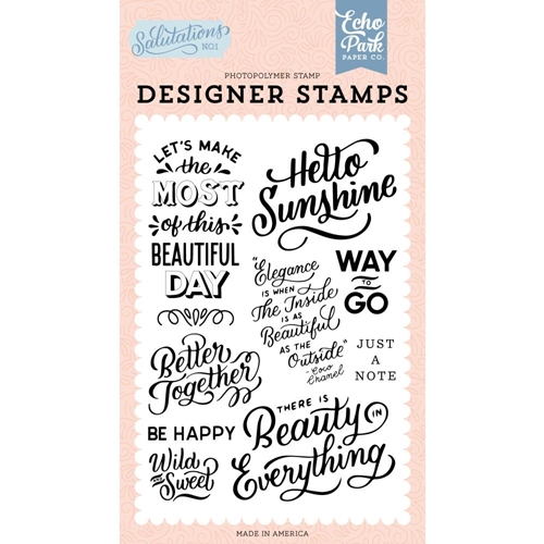 Echo Park HELLO SUNSHINE Clear Stamps san244045 Preview Image