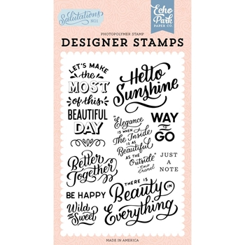 Echo Park HELLO SUNSHINE Clear Stamps san244045
