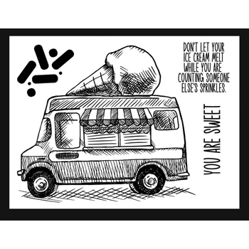 Brutus Monroe ICE CREAM TRUCK Clear Stamps bru3379